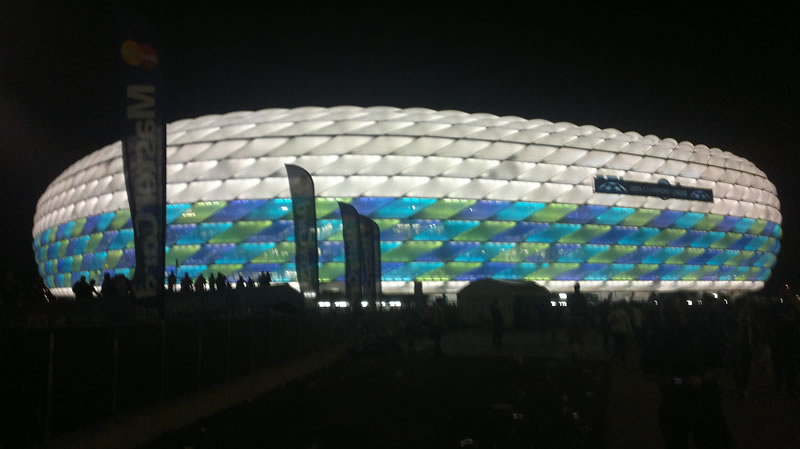 Allianz arena when leaving