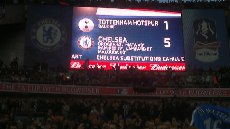 Tottenham 1-5 Chelsea scoreboard
